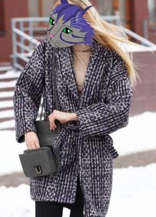 Шикарное дизайнерское пальто оверсайз (oversize) в стиле шанель (chanel) 100% шерсть