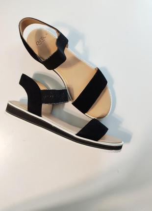 39 40  ara босоніжки босоножки на широкую ногу черные легкие женские сандали