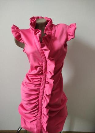 Розовое платье1 фото