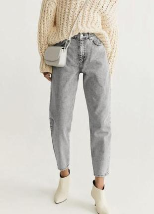 Джинсы джинси брюки mom мам mango