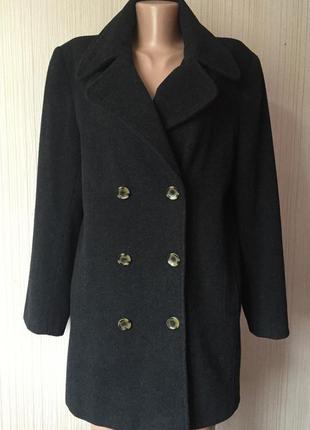 Доступно - двубортное бойфренд-пальто *etam* 10 р. - 60% шерсть
