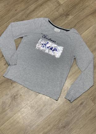Кофта свитшот свитер тонкий с паетками
