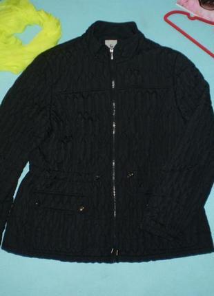 Черная стеганая куртка tu uk20 xl-xxl женская р.52-54
