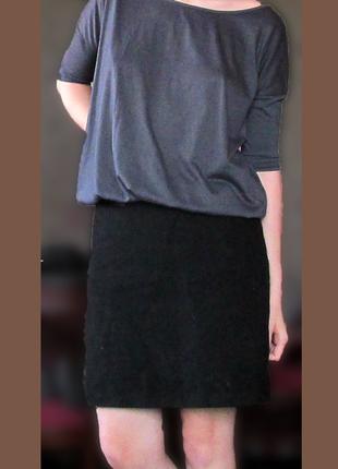 Серая школьная блузка amisu