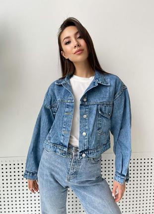 Куртка джинсовка пиджак с паетками
