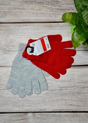 Перчатки детские c&a (германия), набор 2 шт