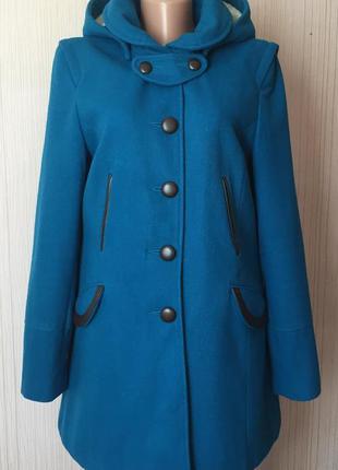 Доступно - пальто с меховым капюшоном *asos* 12 р. - 49% шерсть