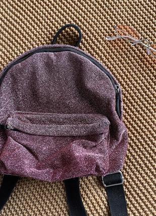 Блестящий бордовый рюкзак pull & bear