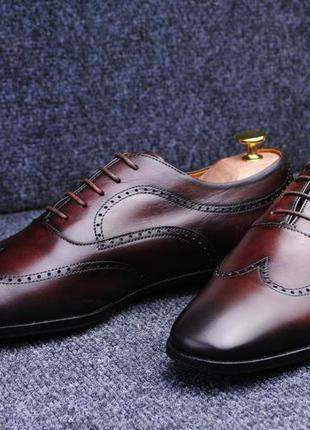 Pollini туфли оксфорды италия 42,5р ( 27,5см )