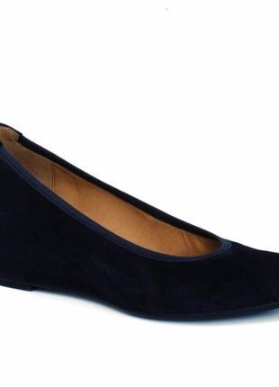 Gabor comfort балетки, туфли на танкетке, ортопедические туфли, босоножки стелька 24 см
