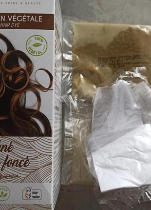 Краска хна аромазон франция , цвет тёмный шоколад