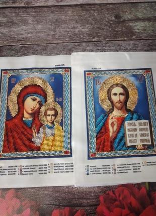 Вышитая пара икон, венчальные