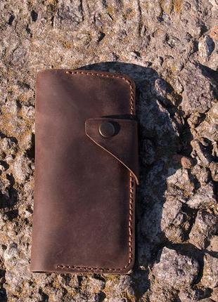 Кожаный кошелек. 100% натуральная кожа. ручная работа