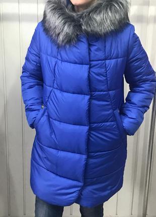 Теплая зимняя женская куртка зефирка
