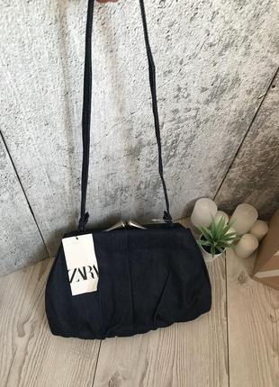 Джинсовая сумка клатч zara