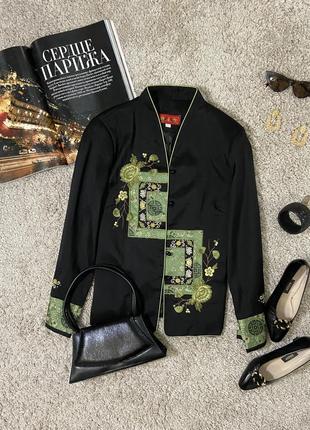 Актуальный пиджак в китайском стиле с вышивкой №43