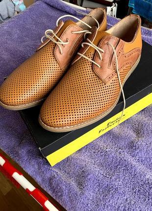 Туфли мужские летние рыжие fashion footwear