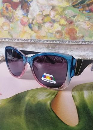 Эксклюзивные солнцезащитные женские очки с цветным градиентом