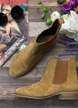 Замшевые ботинки-челси asos c высоким голенищем  sh3714  asos