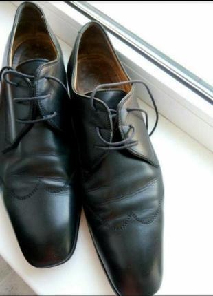 Туфли, кожа италия, большой размер