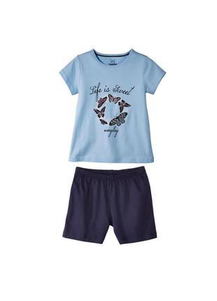Футболка и шорты lupilu набор для девочки