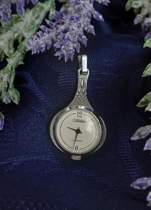 Часы кулон слава ссср советские в металлическом корпусе винтаж