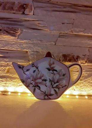 Подставка под чайные пакетики,английский фарфор lefard