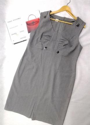 Платье  серое большой размер  шерсть