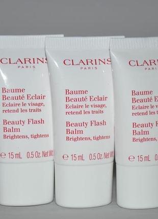 Восстанавливающий бальзам для лица или маска золушки 2 в 1 clarins beauty flash balm