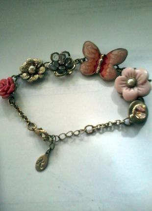 Красивый и стильный браслет на руку с жемчугом ,оригинал брендовый