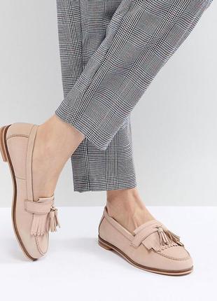 Фирменные стильные кожаные балетки-туфли, мокасины, лоферы