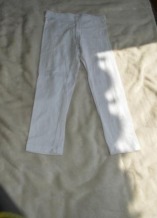 Белые лосины 7-8 лет