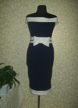 Стильное очень эластичное платье миди