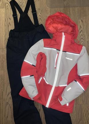 Лыжный костюм, термо куртка и брюки glissade, 158р