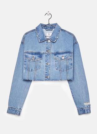Укорочённая джинсовая куртка, джинсовка от bershka