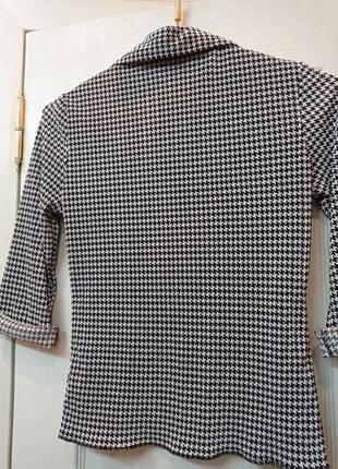 Офисная блуза гусиная лапка6 фото