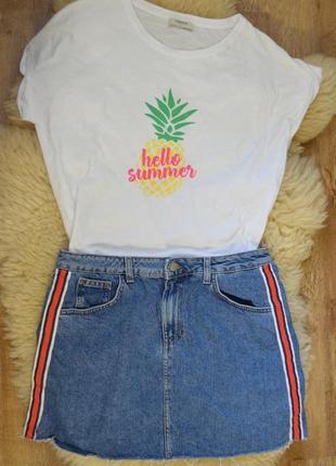 Стильная джинсовая юбочка с полосками от  denim co1 фото
