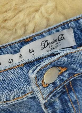 Стильная джинсовая юбочка с полосками от  denim co3 фото