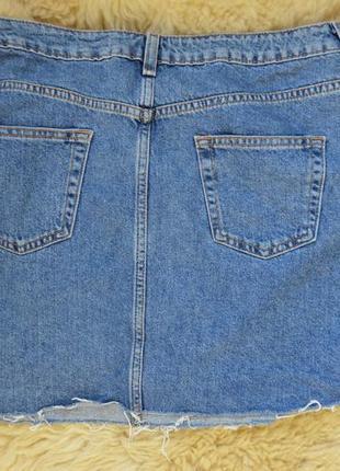 Стильная джинсовая юбочка с полосками от  denim co4 фото