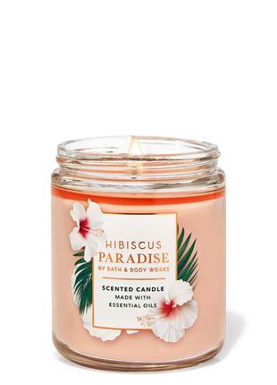 Свеча ароматизированная hibiscus paradise bath and body works