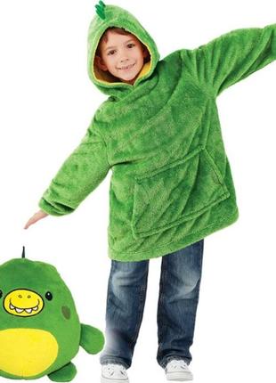 Детский худи плед толстовка трансформер игрушка подушка дракон