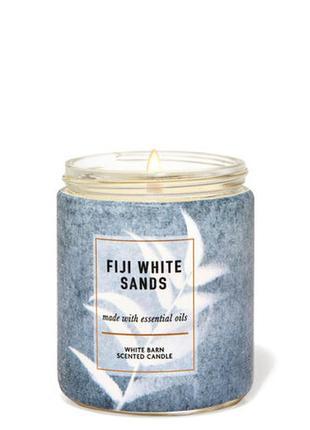 Свеча ароматизированная fiji white sands bath and body works