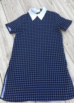 Стильное актуальное платье клетчатое в клетку h&m zara asos мини миди короткое