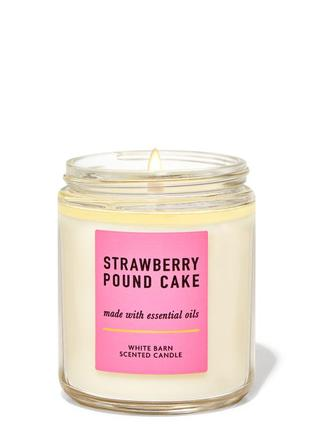 Свеча ароматизированная strawberry pound cake bath and body works