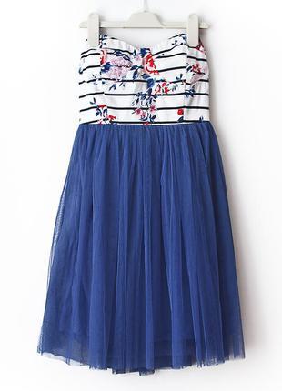 Очень красивое платье-бюстье с фатиновой пышной юбочкой • xs-s (примерно на грудь до 87