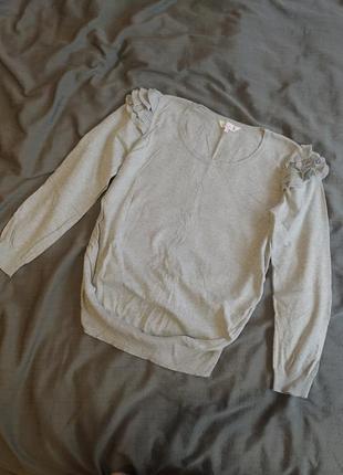 Кофта свитер свитшот zara для беременных next натуральный хлопок asos