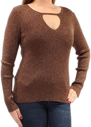 """Пуловер  """"в рубчик"""" с каплевидным вырезом (люрекс) xl"""