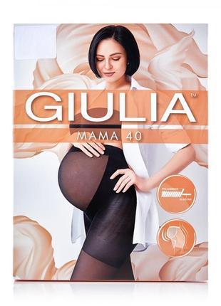 Колготки 2-s, 3-м, 4-l 40 den giulia mama для беременных черные телесные