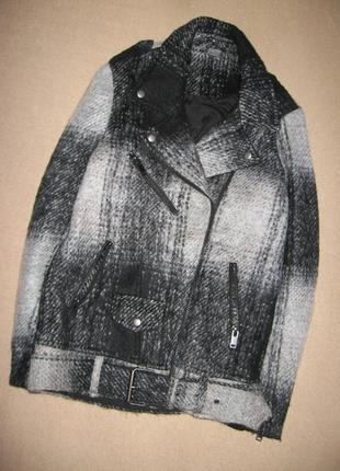 Пальто косуха с шерстью h&m