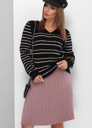 Хит сезона!стильная женская вязаная юбка плиссе в ассортименте